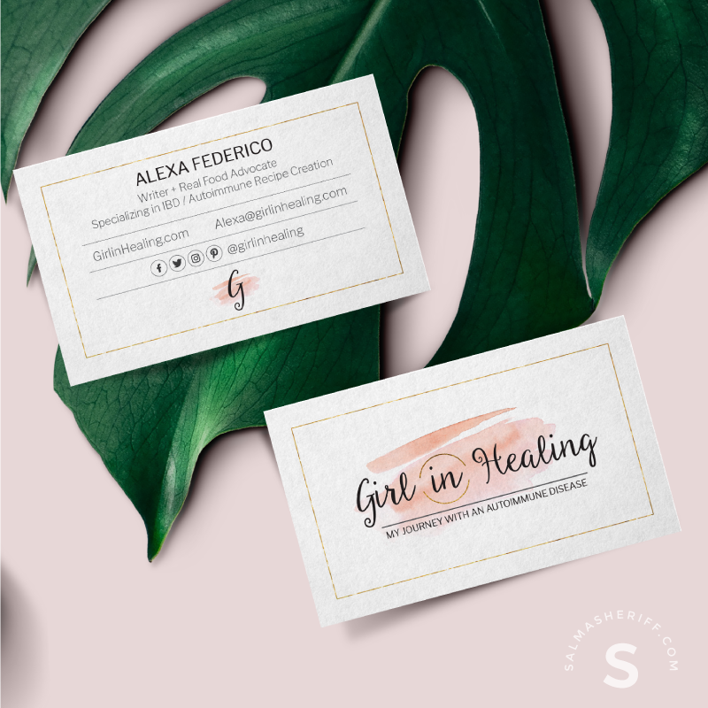 Girl-in-Healing - Business Card - Salma Sheriff