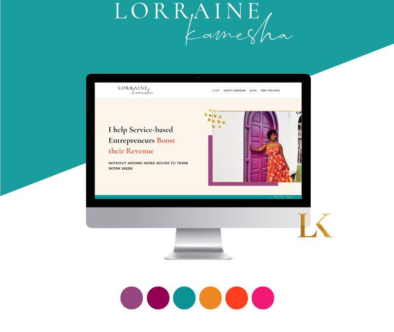 Branding & Website Design for Lorraine Kamesha