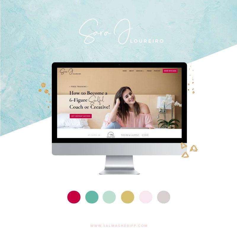 Logo and Website Design for Sara J Loureiro