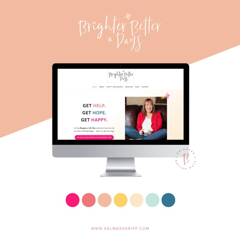 Branding and Website Design for Brighter Better Days