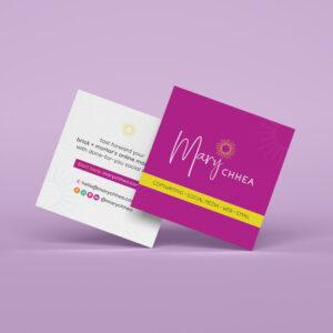 Logo & Brand Design for Mary Chhea