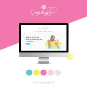 Branding and Website Design for Heidi Bee of JoyfullyBee