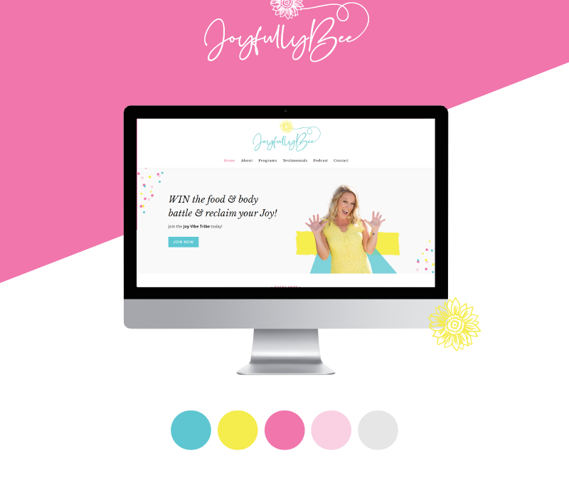 Branding and Website Design for Heidi Bee of JoyfullyBee
