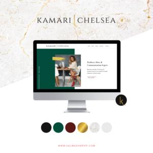 Branding and Website Design for Kamari Chelsea