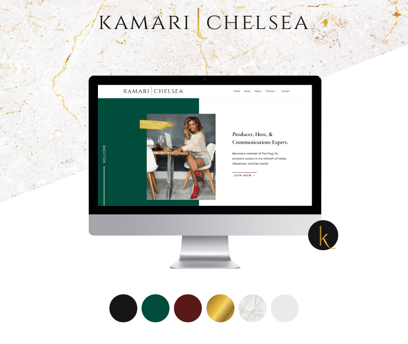Branding and Website Design for Kamari Chelsea