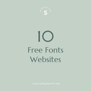 10 Free Fonts Websites